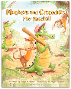 Monkeys and Crocodiles Play Baseball Children's Story Book by Angle Krishna