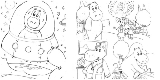 Coloring page Collage 2